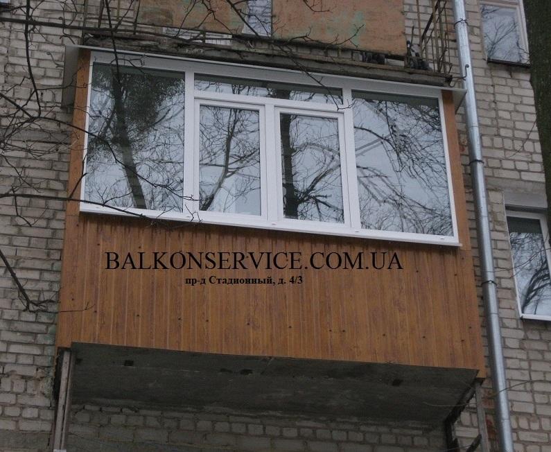 обшивка балкона в харькове фото